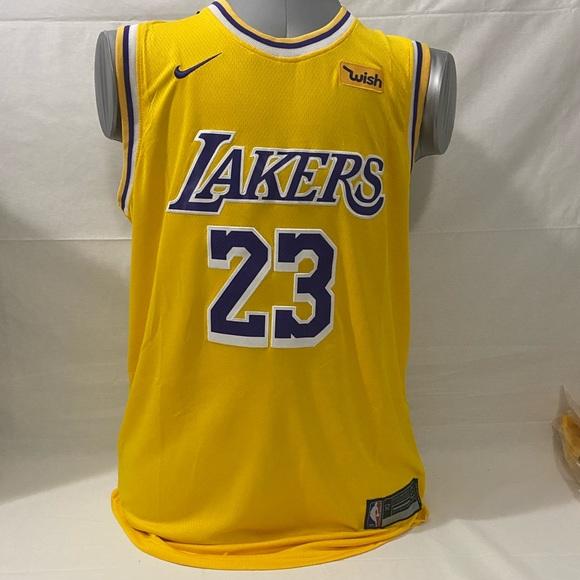 Nike Lakers #23 LeBron James NBA Swingman Jersey
